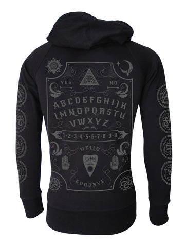 Image of DARKSIDE Ouija Board Cotton Zip Hood