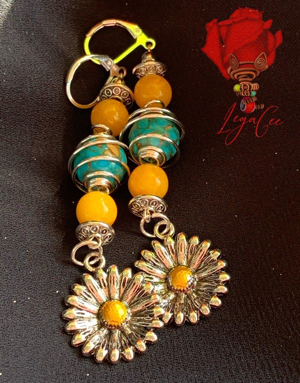 Image of NIRVANA EARRINGS: Sunflower