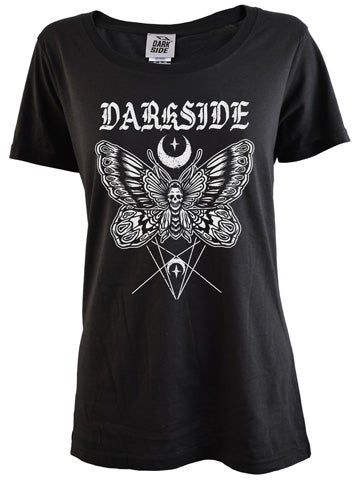 Image of DARKSIDE Death Moth Women's Scoop Neck T-Shirt