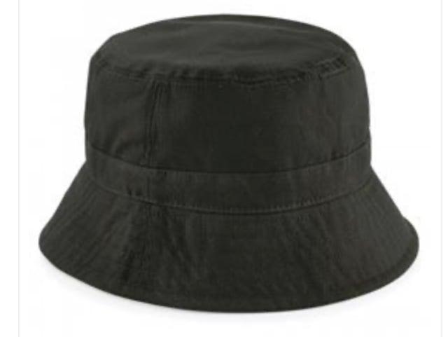 Plain Dark Olive Bucket Hat