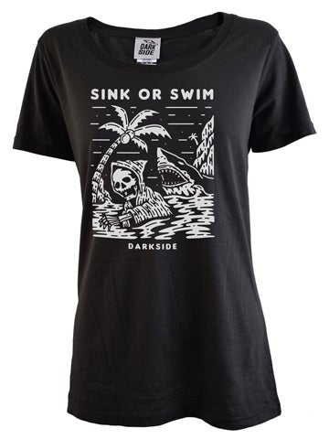 Image of DARKSIDE Sink or Swim Women's Scoop Neck T-Shirt