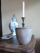 Image of Grey marble lidded pots  (Large)