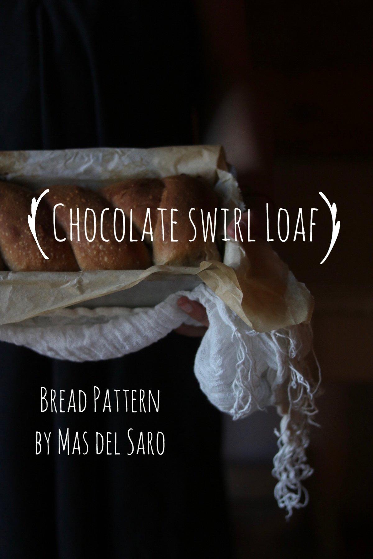"""Image of 🇮🇹 Bread Pattern """"Chocolate swirl loaf"""" + dispensa """"il mio primo lievito madre"""" in regalo"""