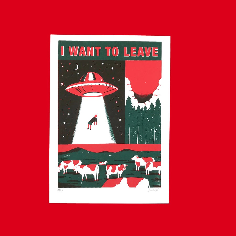 "Image of ""I want to leave"" Postcard"