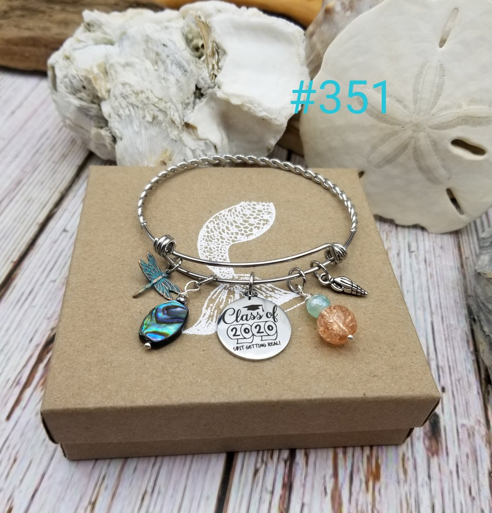 Image of Class of 2020 Graduation- Adjustable Bangle- #351