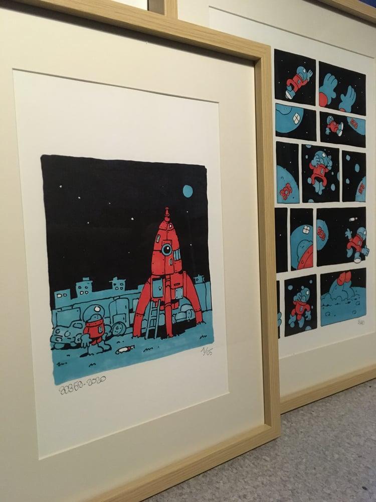 Image of on the moon. bob