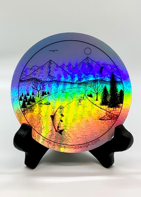Image of Trout Bum Holographic Sticker