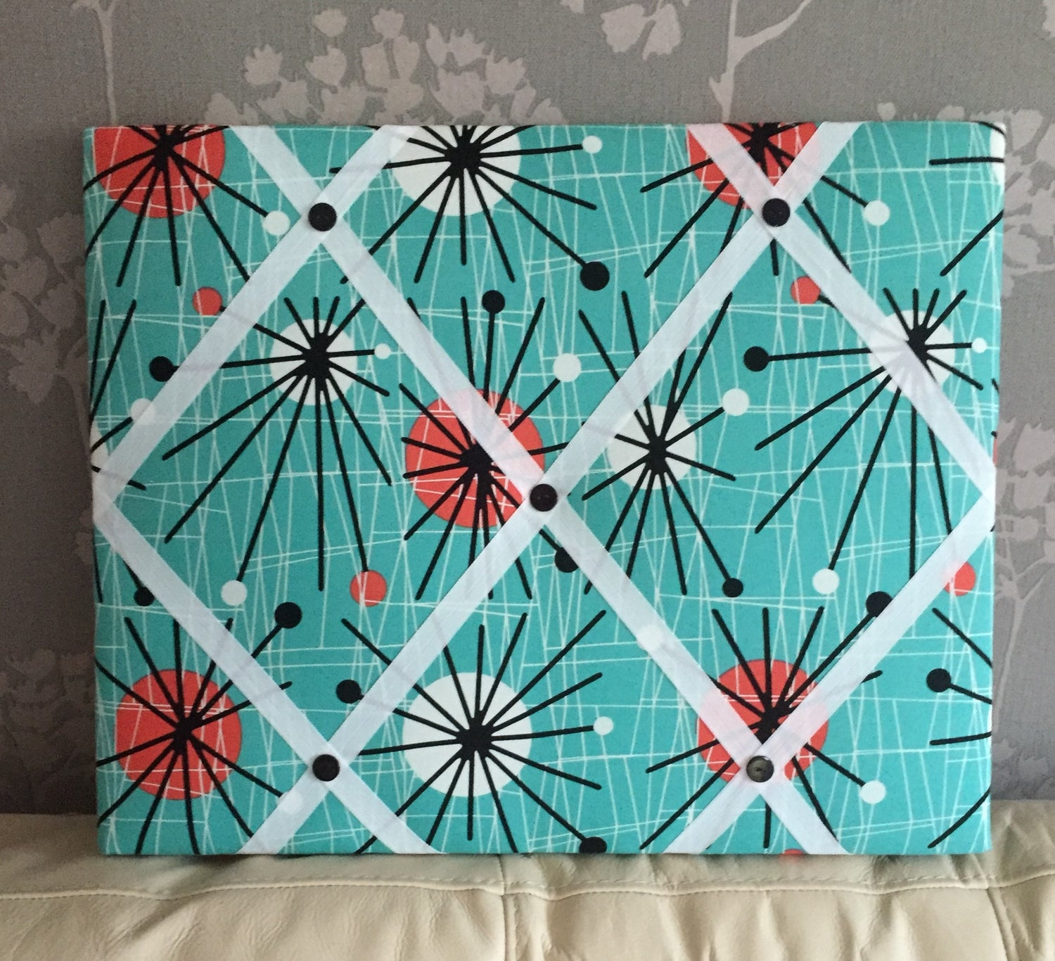 Image of Viral  Atomic  retro 60's fabric Memo Board