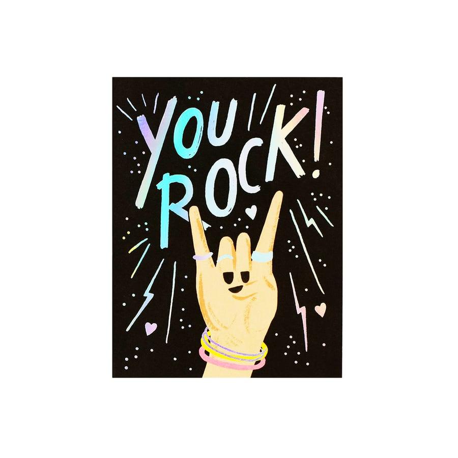 Image of You Rock Iridescent Card