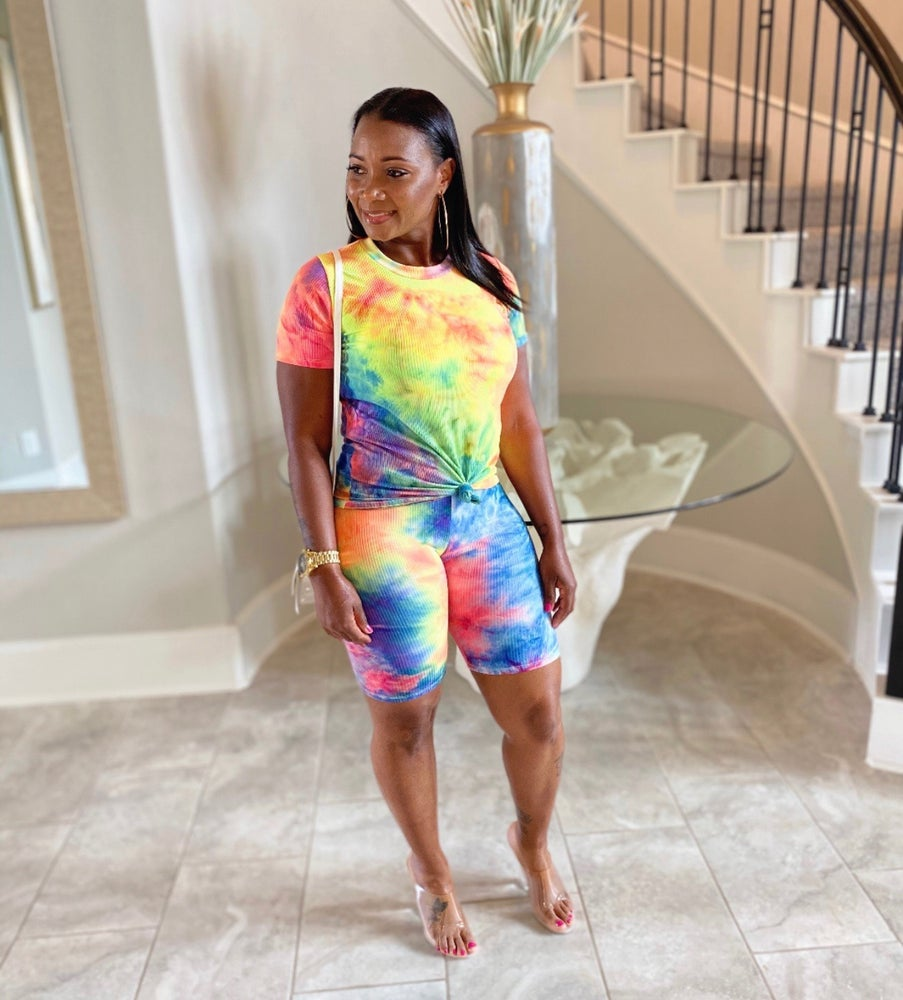 Image of Ribbed Tie Dye 2 piece