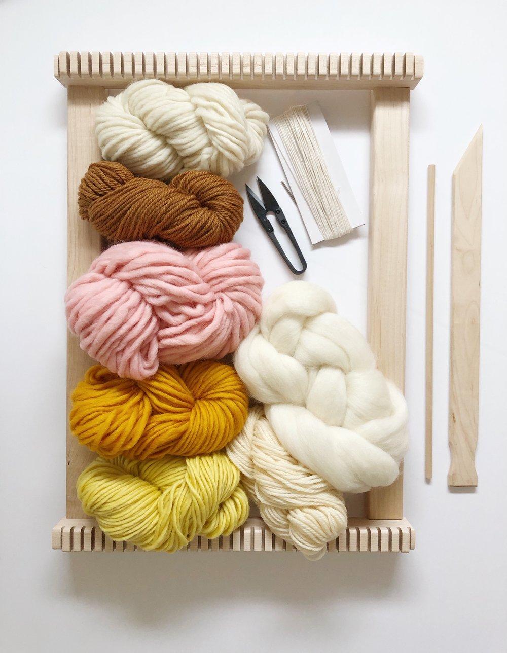 Image of Maple Beginner's Weaving Kit-Rise