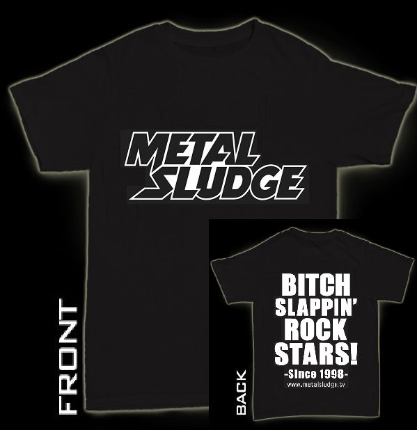 Image of Metal Sludge Men's Bitch Slappin' Rock Stars Style Tour Tee