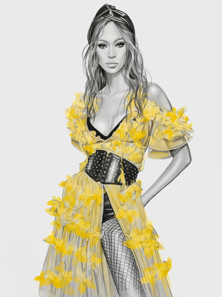 Image of JOAN SMALLS DUNDAS FASHION ILLUSTRATION PRINT A3/A4/A5