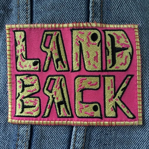 Image of Land Back Embroided Patch