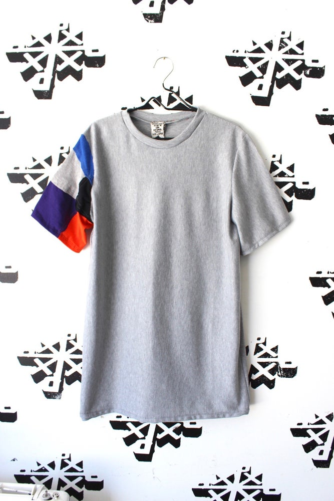 Image of keep it simple but not simple cut and sew tee in gray