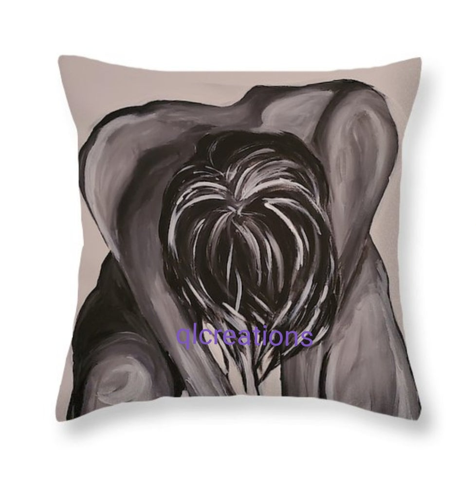 "Image of Throw Pillow ""Rise"""