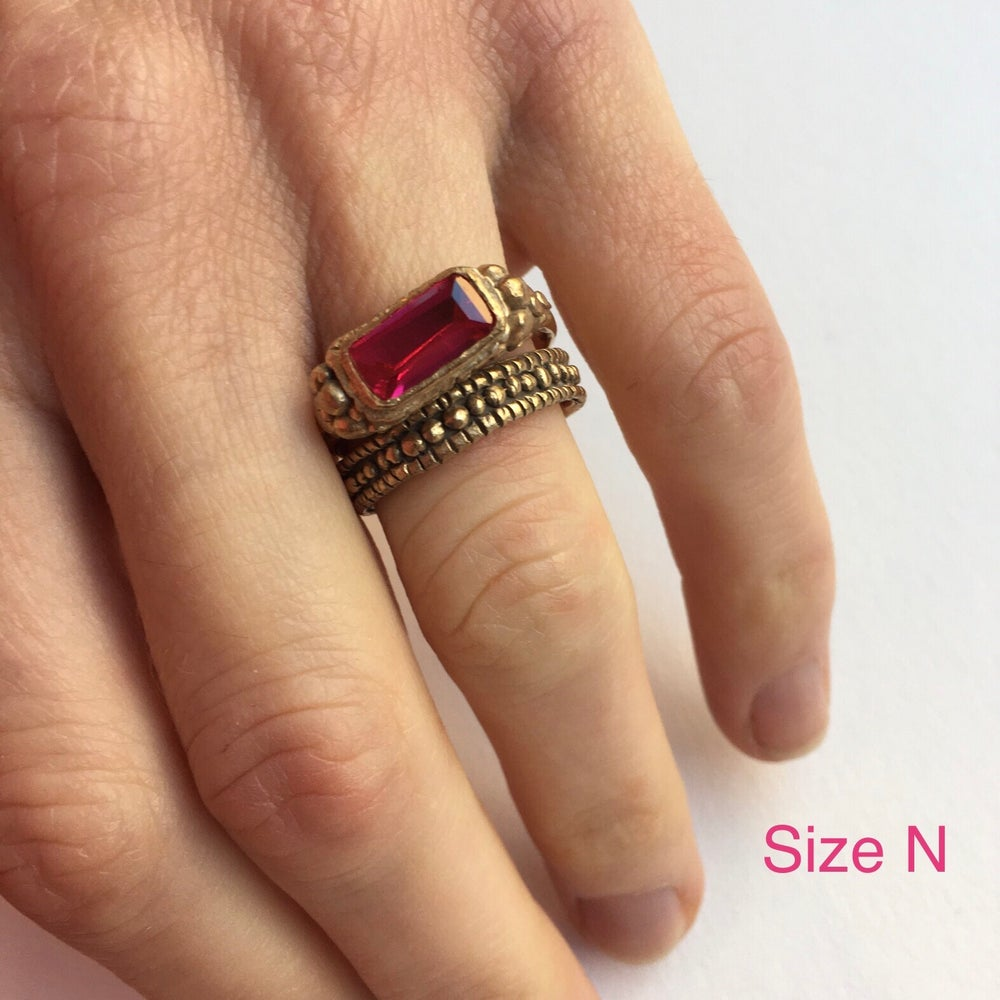 Image of CZ Ruby Ring