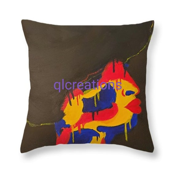 "Image of Throw Pillow ""Untitled"""
