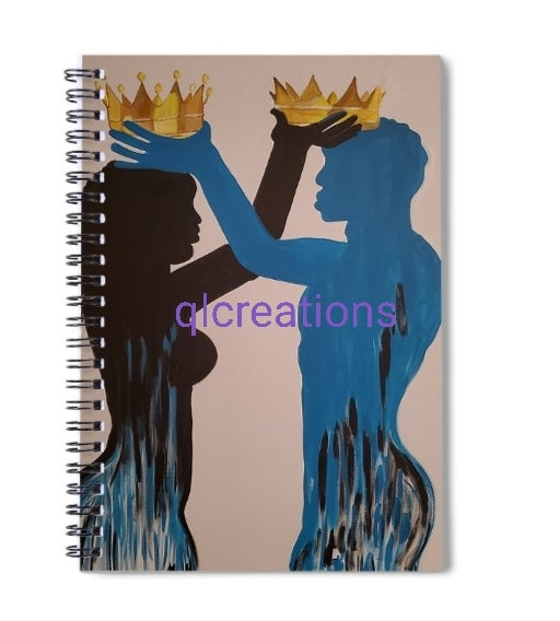 """Image of Notebook """"Crowned"""""""