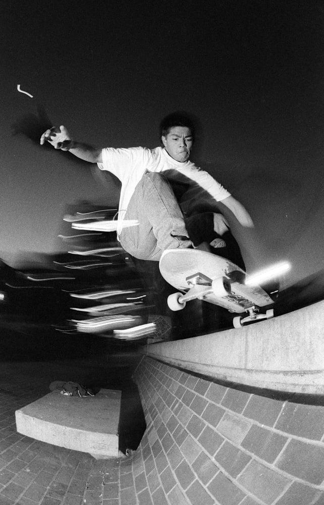 Rick Ibaseta, rolling in to China Banks SF 1990 by Tobin Yelland