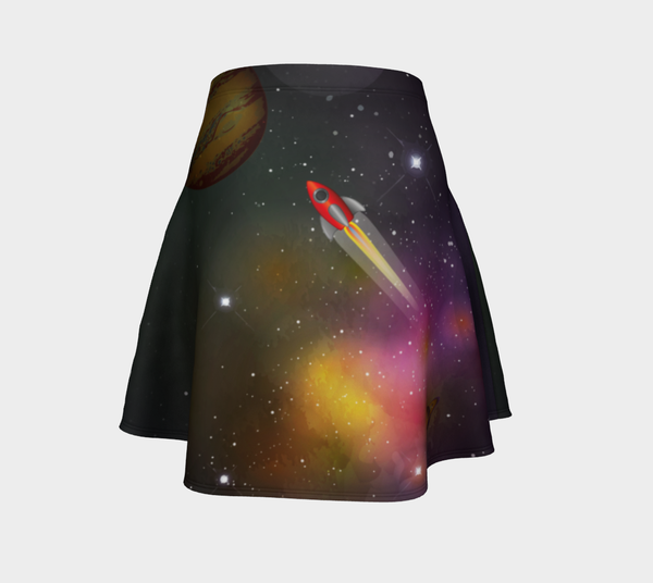Image of Retro Rocket Skater Skirt