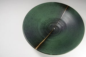 Green matt dish (e032)