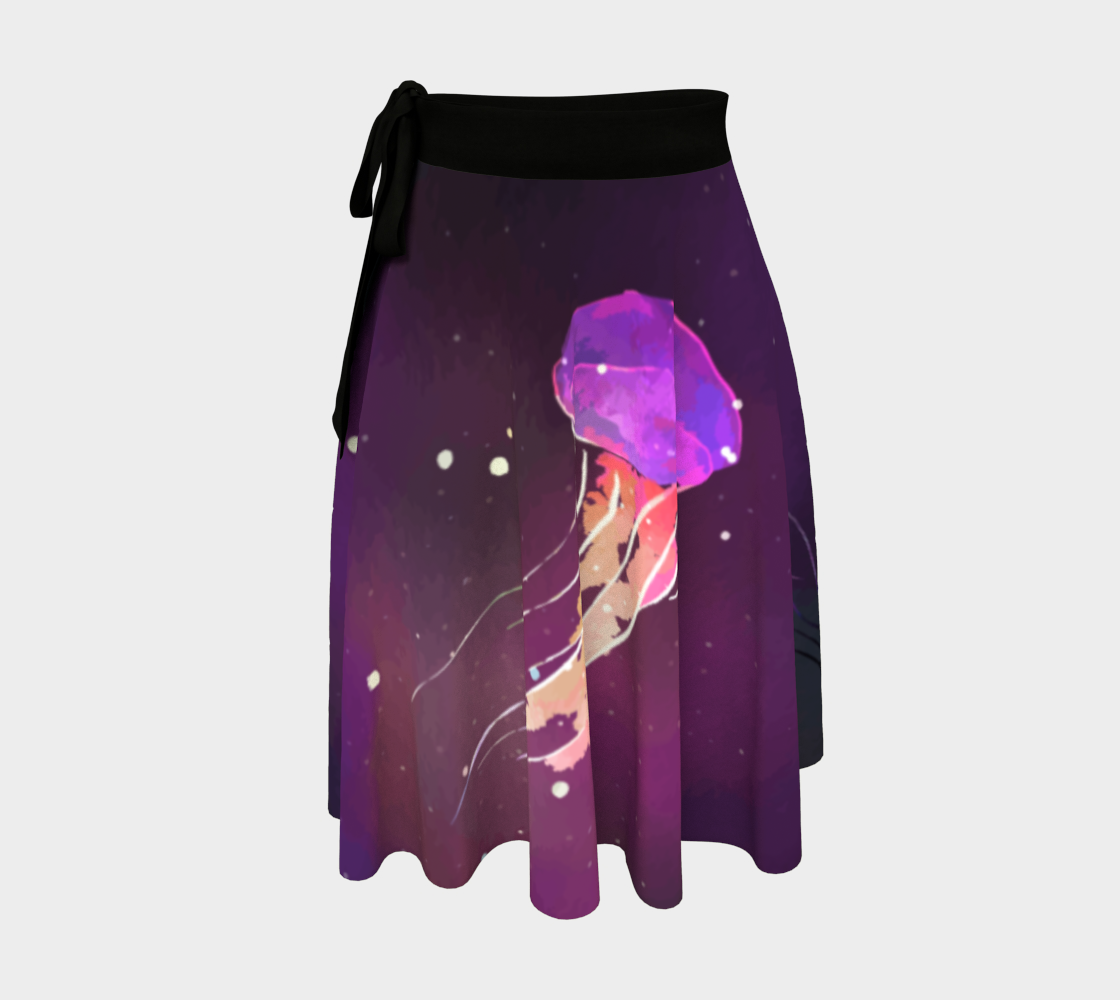 Image of Space Jellyfish Wrap Skirt