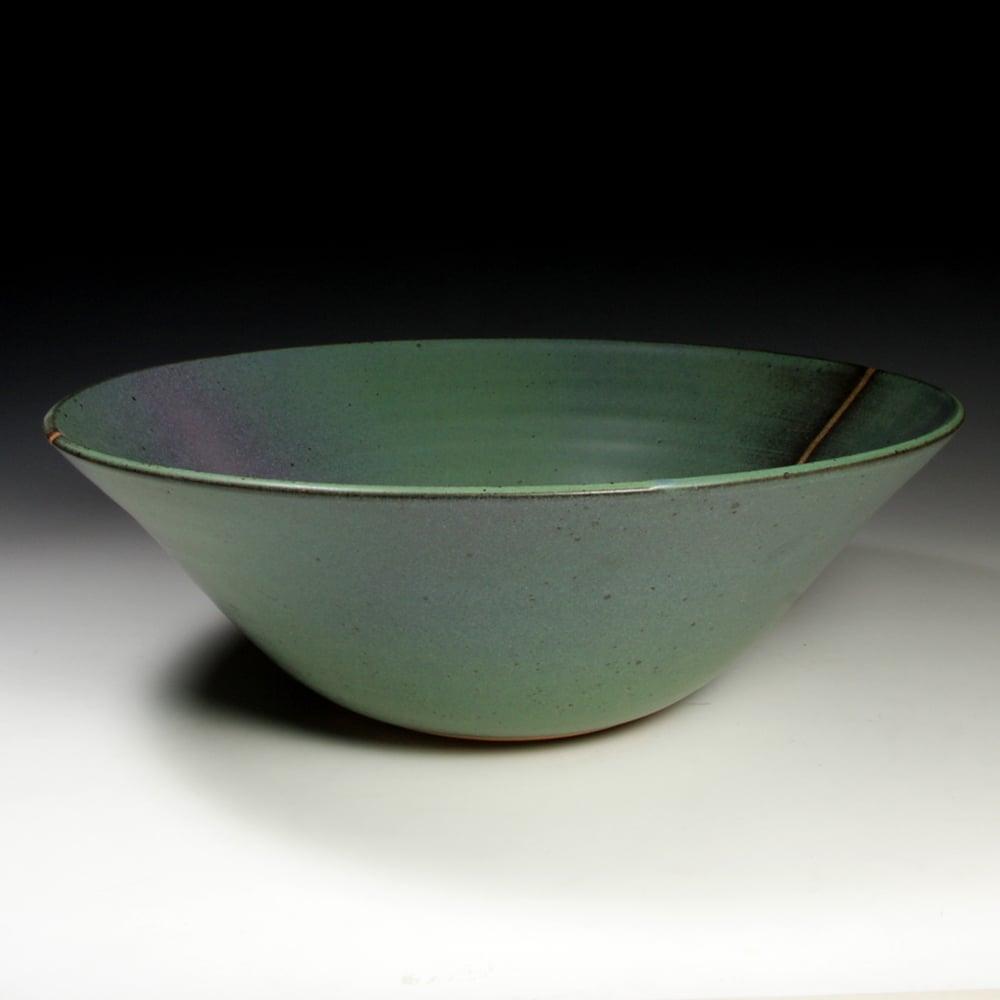 Green matt bowl (e036)