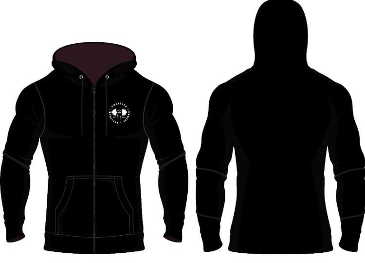 Image of PMA Fitwear Black Zip Up Hoodie