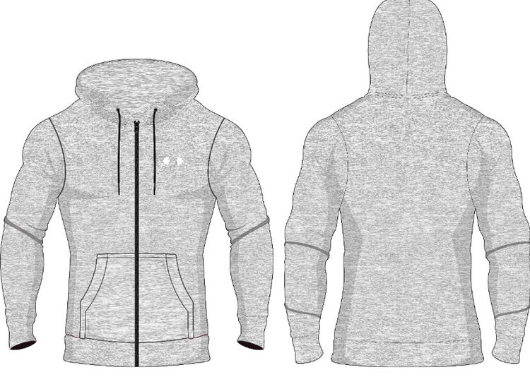 Image of PMA Fitwear Grey Zip Up Hoodie