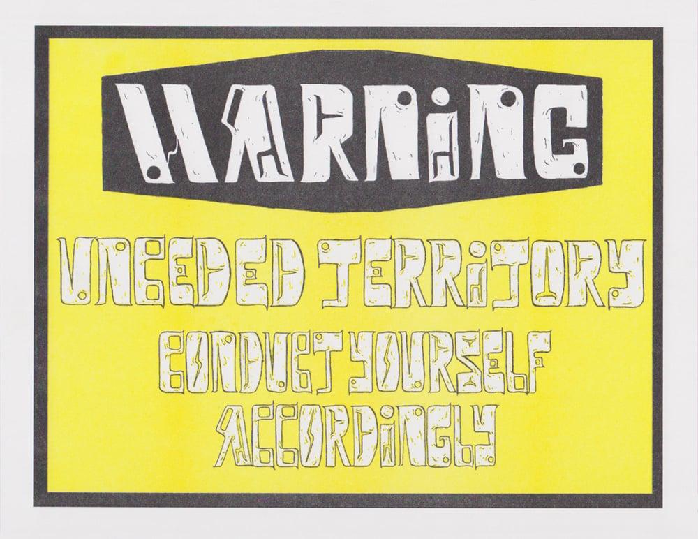 Image of Warning Sign Riso Print