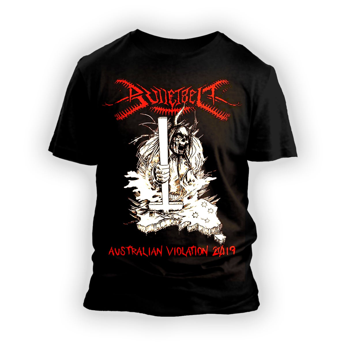 "Image of Bulletbelt ""Australian Violation"" T-Shirt"
