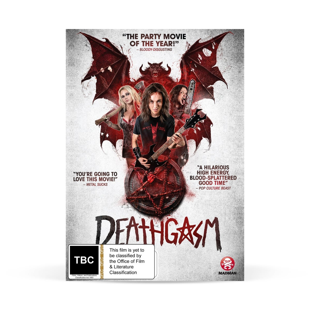 "Image of Film ""Deathgasm"" DVD ft. Bulletbelt"