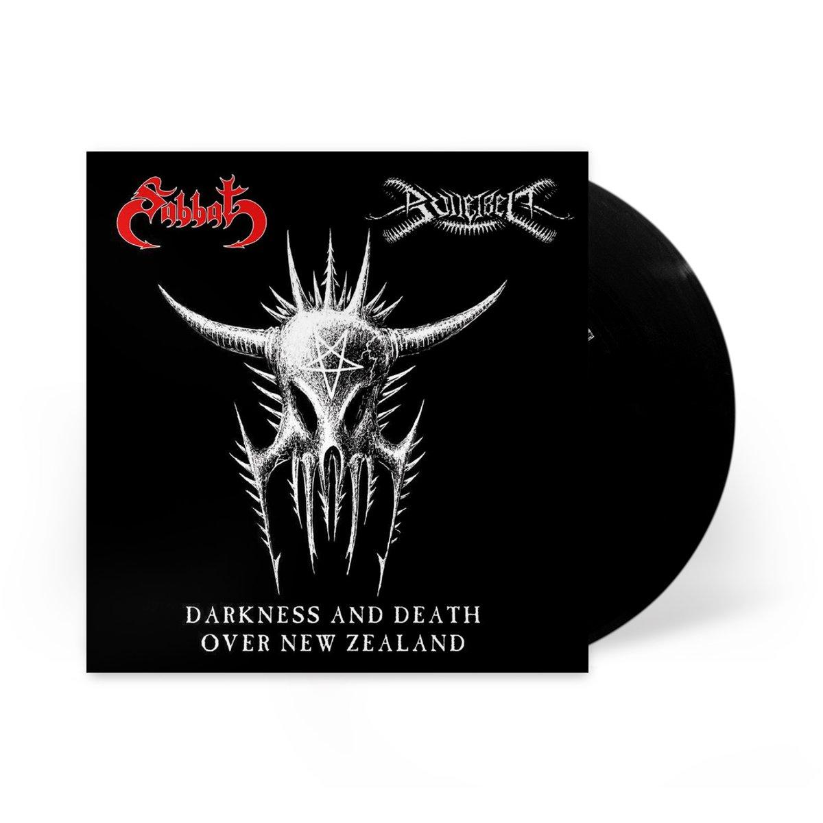 Image of Bulletbelt/Sabbat Split 7 inch LP