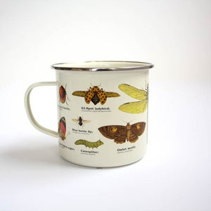 Image of Insects Print Enamel Tin Mug