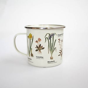 Image of Wildflowers Print Enamel Tin Mug
