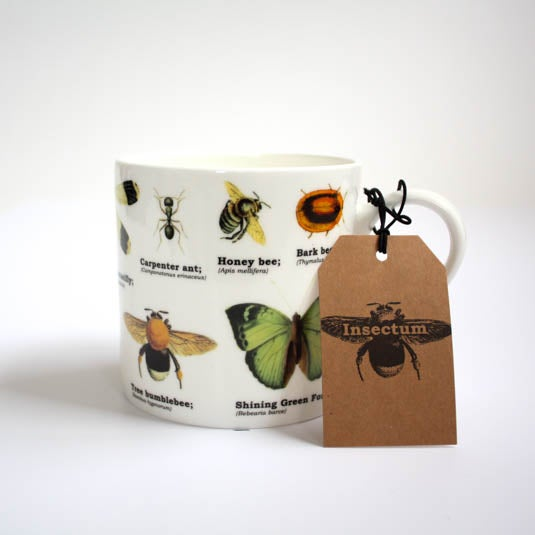 Image of Insects Print Bone China Mug