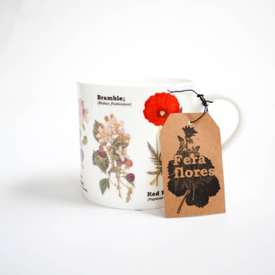 Image of Wildflowers Print Bone China Mug