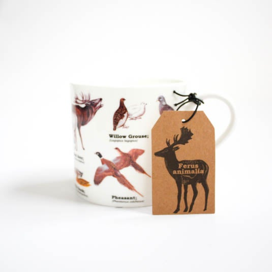 Image of Wild Animals Print Bone China Mug