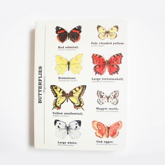 Image of Butterflies Print A6 Lined Notebook