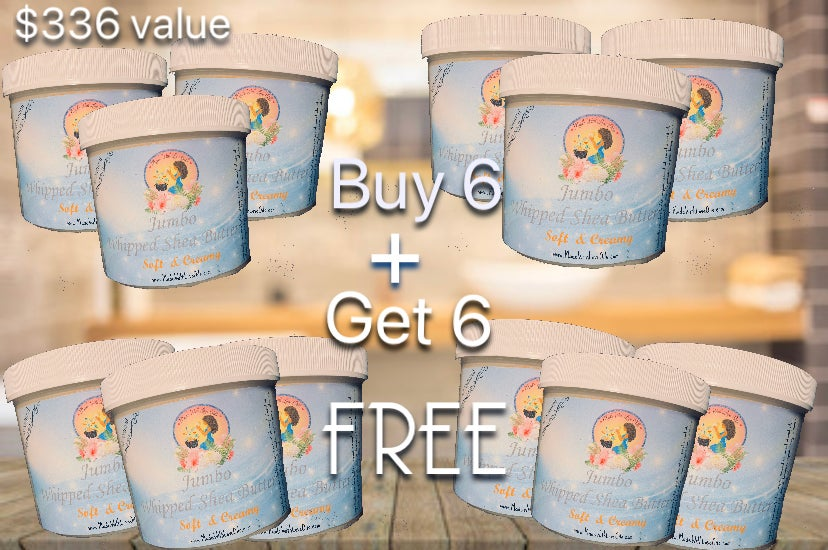 Image of Buy 6 get 6 FREE Jumbo Whipped Shea Butter