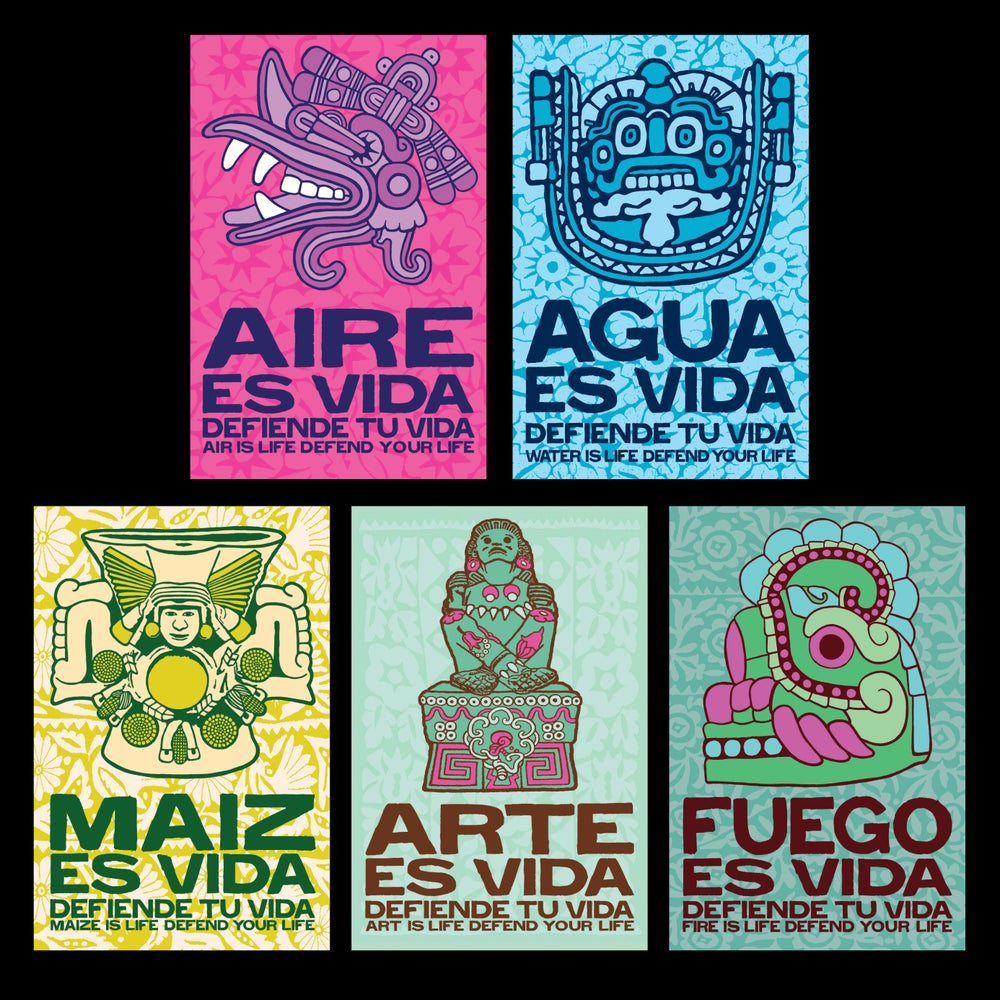 Image of Defiende tu Vida Postcard Set (5 cards)