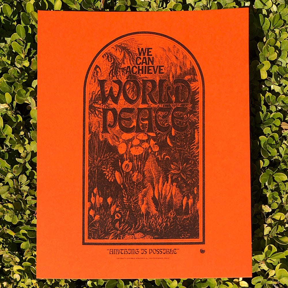 Image of We Can Achieve World Peace Risograph Print
