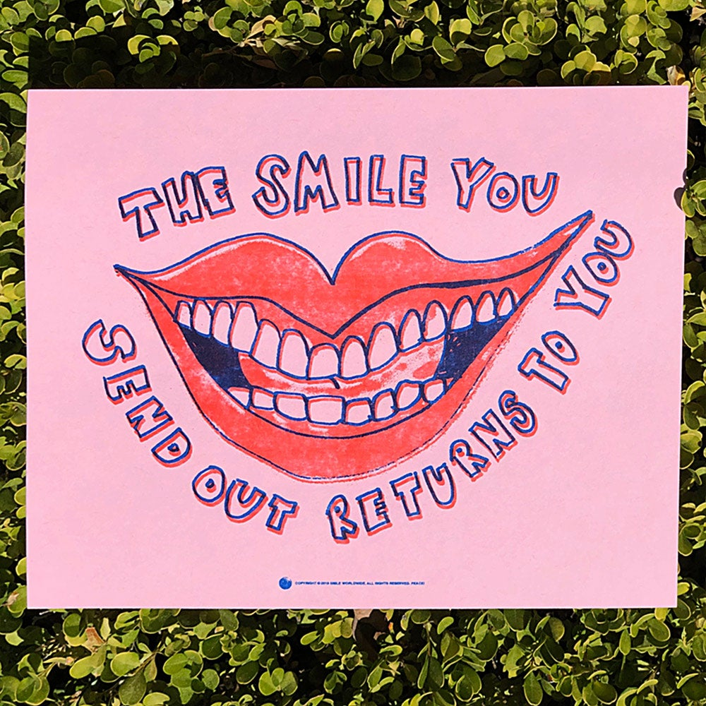 Image of The Smile You Send Out Returns To You Risograph