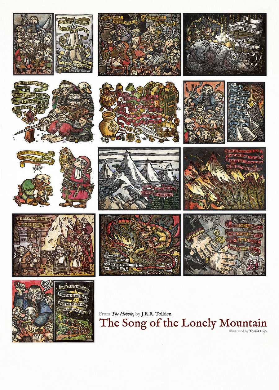 Image of The Song of the Lonely Mountain (poster)