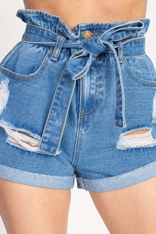 High Fashion Denim Shorts