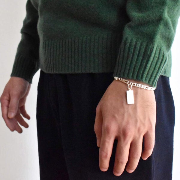Image of Fish Bone Knots silver bracelet
