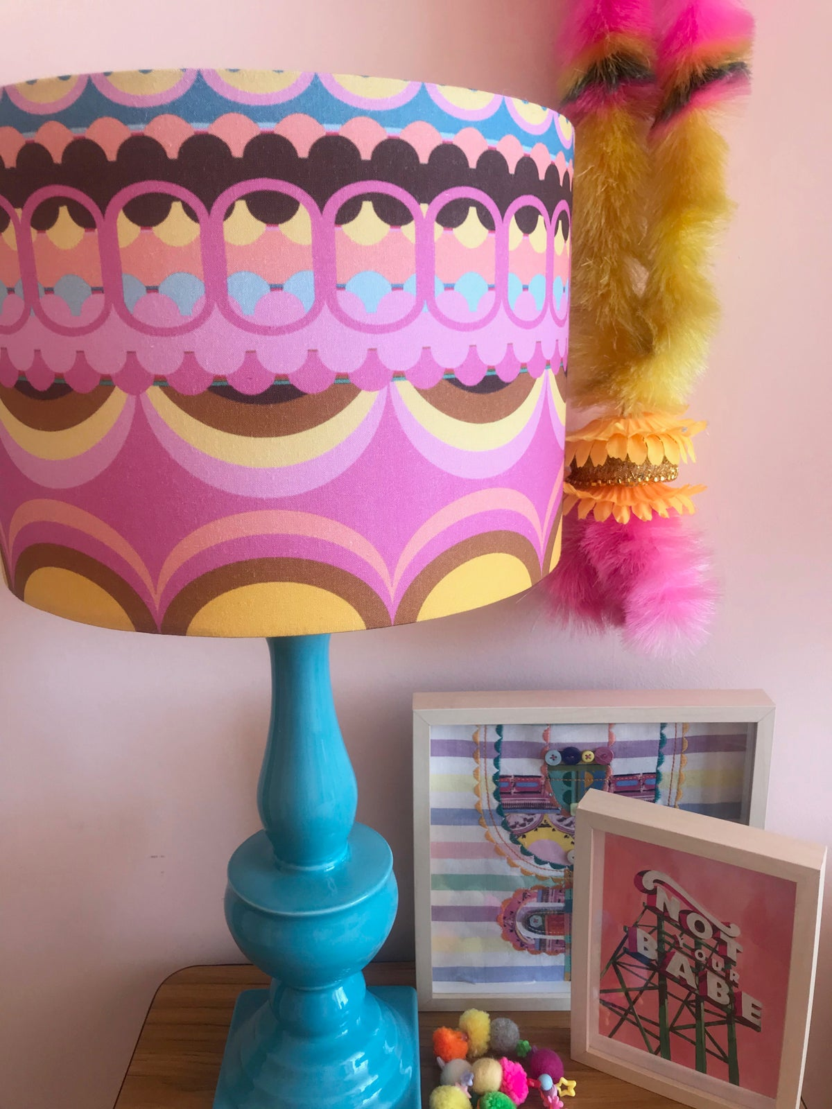 Image of  Disc'O'Pink Lampshade