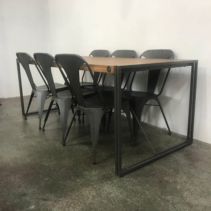 Image of INDUSTRIAL STYLE TABLE AND CHAIRS