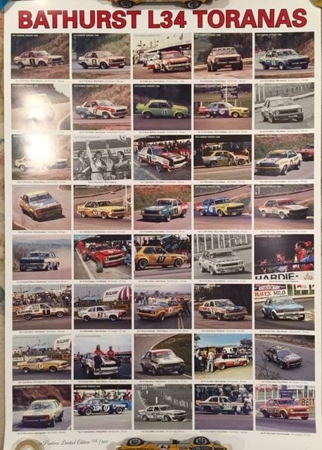 Image of Bathurst L34 Toranas Numbered Print. 1974-1977.